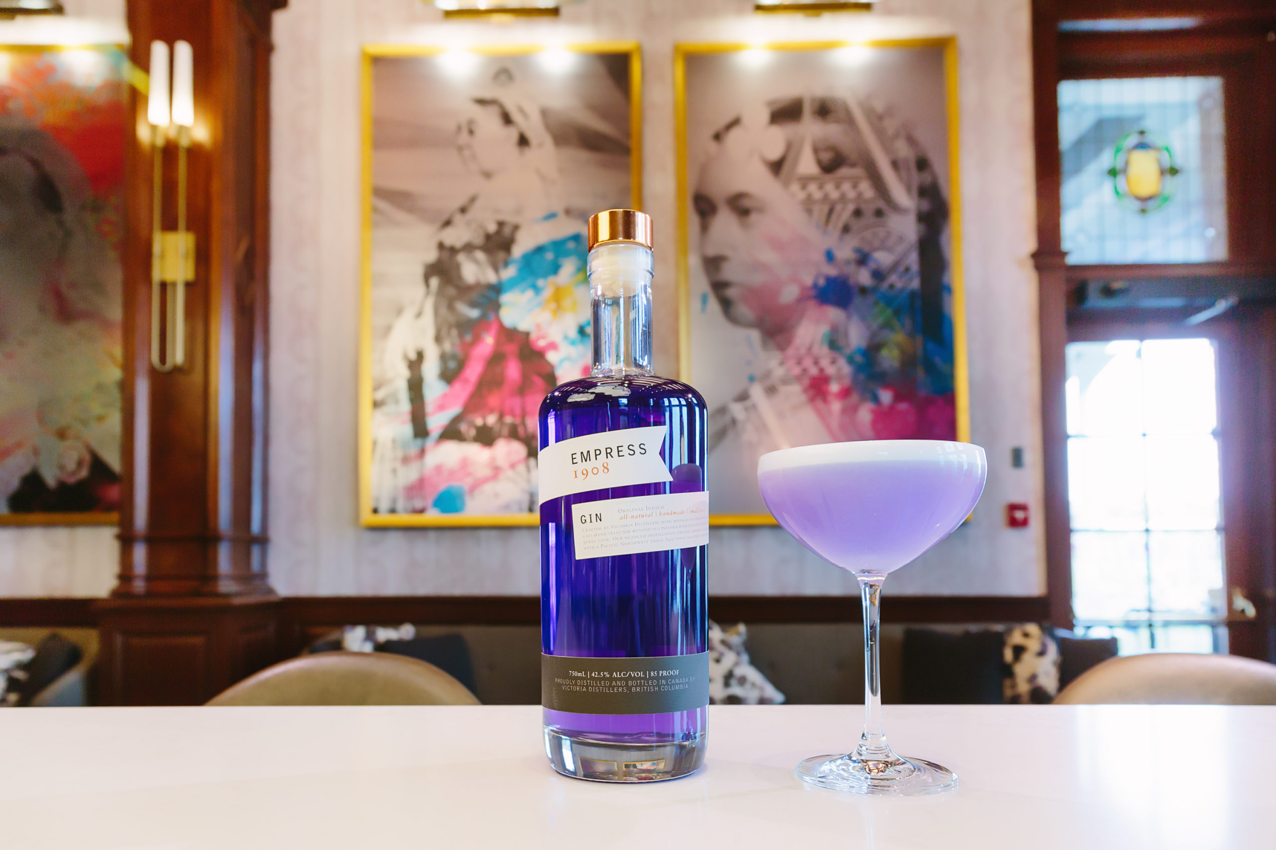 Empress Gin bottle and cocktail