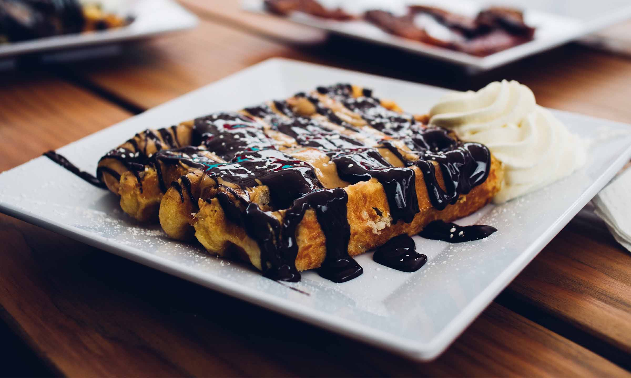 chocolate waffles brunch at fairmont empress mothers day