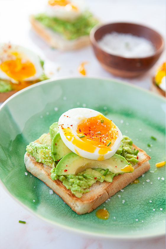 mothers day avocado toast with soft boiled egg
